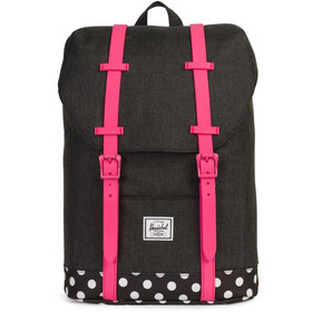 Herschel Retreat Backpack Youth Black/Polka Dot/Fandango Pink